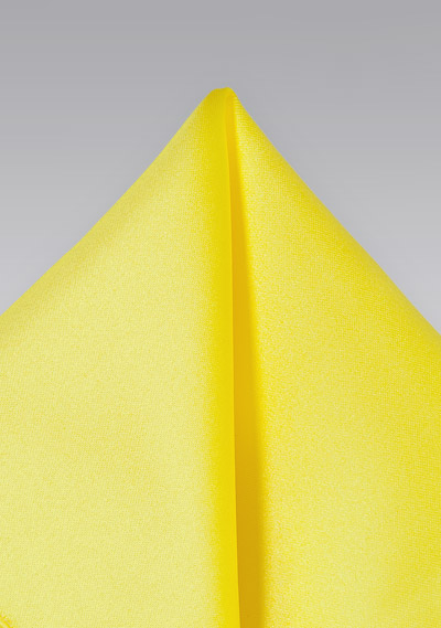 Pocket Squares<br>Bright yellow hankie