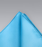 Turquoise blue Hankie   Hankie in solid turquoise blue