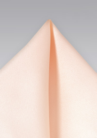 Peach pink pocket square<br>Solid peach colored hankie