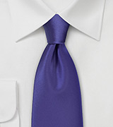 Solid Satin Purple Necktie