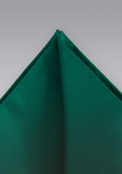 Pocket squares<br> Dark green hankie