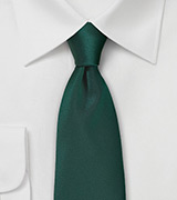 Dark Hunter Green Colored Necktie