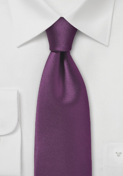 Solid Spiced Wine Tie Made from Pure Microfiber