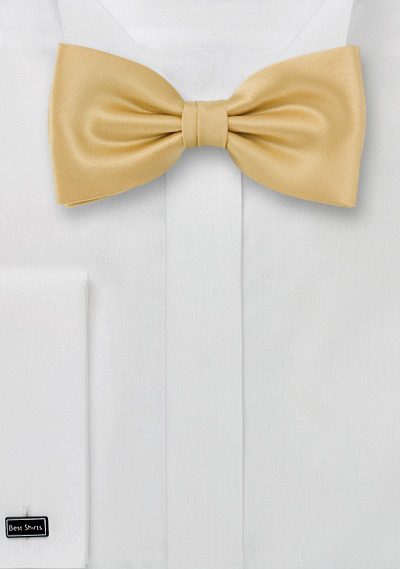 Bow ties <br> Solid color gold/yellow bow-tie