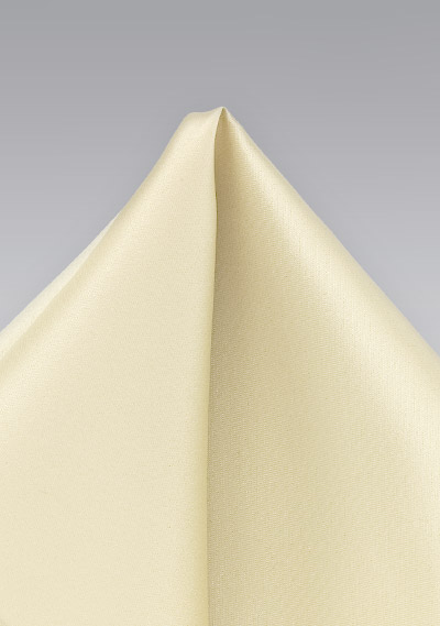 Elegant Pocket Square in Champagne
