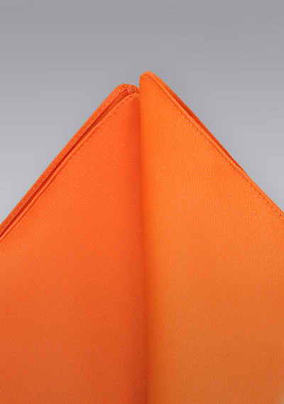 Pocket squares<br>Bright orange pocket square