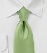 Solid Color Tie in Celery Green