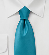Solid Adriatic Blue Necktie