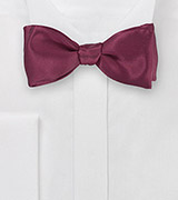 Pure Silk Bowtie in Wine Red