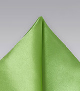Pure Silk Lime Green Pocket Square