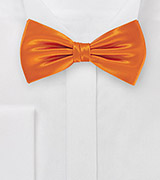 Finest Silk Pre-Tied Bowtie in Electric Tangerine