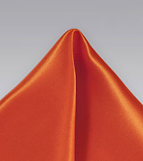Pure Thai Silk Pocket Square in Tangerine