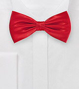 Bright Red Silk Bow Tie