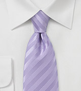 Purple Narrow Tie with Satin Finish