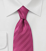 Narrow Magenta Neck Tie