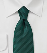 Solid Holly Green Tie with Narrow Modern Cut