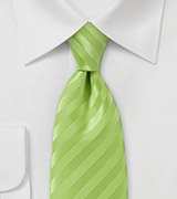 Electric Green Narrow Neck Tie
