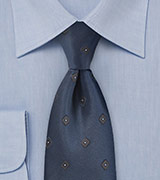 Modern Diamond Tie in Midnight Blue