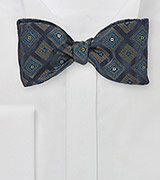 Luxe Diamond Bow Tie in Navy