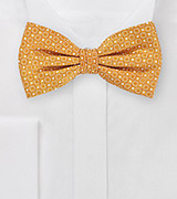 Sharp Tangerine Bowtie with Square Design