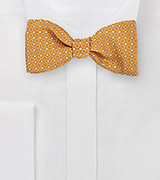 Self Tied Bowtie with Contemporary Tangerine Box Design