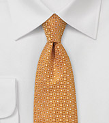 Tangerine Necktie with Contemporary Design