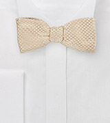 Champagne Color Designer Bow Tie