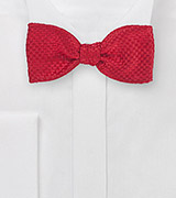 Bold Red Self-Tied Bow Tie