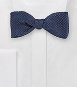 Dark Navy Textured Bow Tie