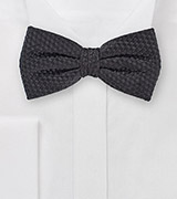 Wide Spread Bow Tie in Solid Black