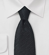Waffle Cone Textured Tie in Black