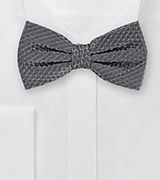 Mercury Gray Bowtie Made of Pure Silk