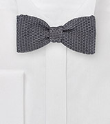 Elegant Self-Tied Bow Tie in Smoke Gray
