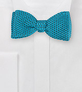 Bright Turquoise Self-Tied Bow Tie