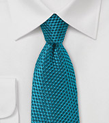 Mosaic Blue Necktie with Unique Jacquard Weave