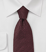 Wine Red Waffle Cone Textured Tie
