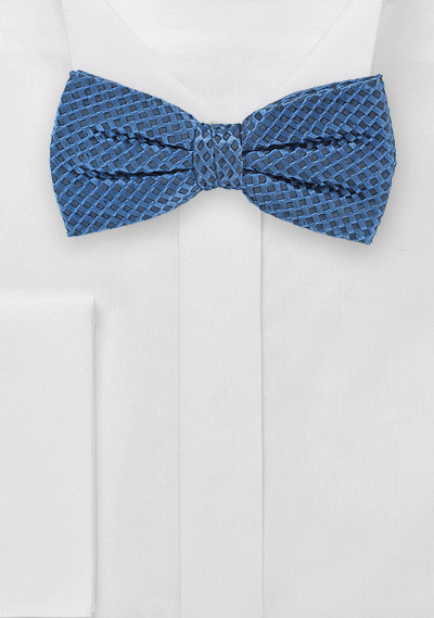 Dragonfly Blue Pre-Tied Bowtie with Unique Weave