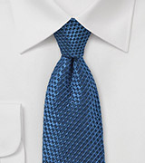 Wafflecone Textured Silk Tie in Teal