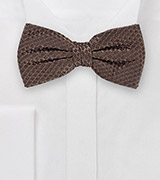 Stylish Bow Tie in Espresso Brown