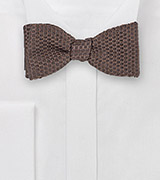 Espresso Brown Wafflecone Textured Bow Tie