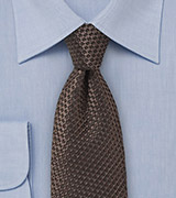 Contemporary Hazelnut Necktie in 100% Silk