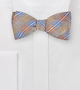 Dapper Self Tie Bow Tie in Camels