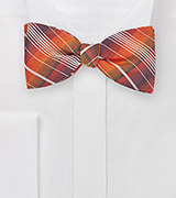 Graphic Plaid Bow Tie in Oranges