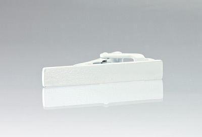White Colored Narrow Tie Bar