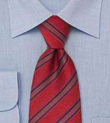 Red silk tie   Handmade necktie by Laco