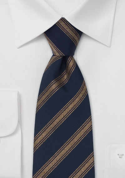 Silk tie navy striped Laco EjN6isy