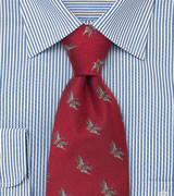 Animal tie  Necktie from Laco with flying ducks