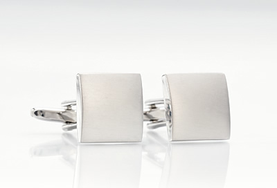 Brushed Steel Cufflinks