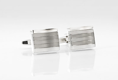 Elegant Silver Cuff Links