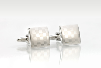 Designer Cufflinks in Chess-board Pattern